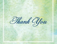 Splendid Watercolor Cross Thank You Cards