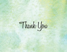 Modern Green Watercolor Thank You Cards
