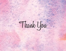 Modern Pink Watercolor Thank You Cards