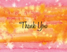 Modern Red Watercolor Thank You Cards