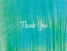 Modern Teal Watercolor Thank You Cards
