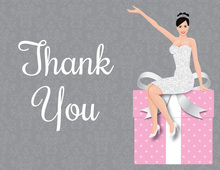 Modern Bride Gifts Pink Thank You Cards