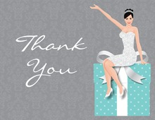 Modern Bride Gifts Teal Thank You Cards