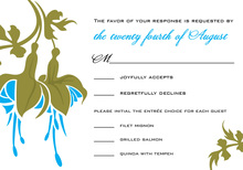 Special Blue Flower RSVP Cards