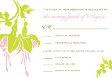 Splendid Green Flower RSVP Cards