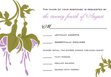Romantic Lavender Flower RSVP Cards