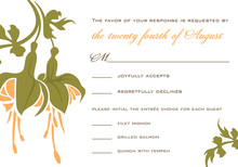 Modern Orange Flower RSVP Cards
