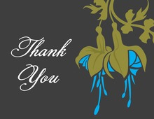 Special Blue Flower Thank You Cards