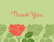 Exquisite Pink Rose Thank You Cards