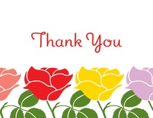 Thinking Special Rose Thank You Cards