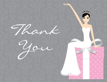 Slim Bride Pink Gifts Thank You Cards