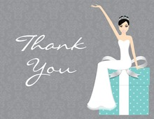 Slim Bride Teal Gifts Thank You Cards