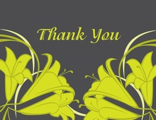 Modern Yellow Tulips Thank You Cards