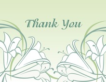 Sage-Green Tulips Thank You Cards