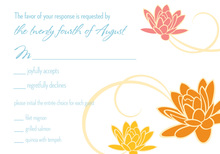 Dainty Flower Breeze Blue RSVP Cards