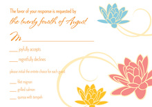 Dainty Flower Breeze Orange RSVP Cards