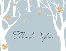 Spotting Trees Grey Thank You Cards
