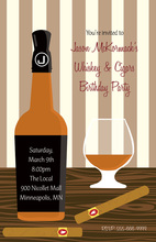 Modern Classic Love To Drink Whiskey Invites