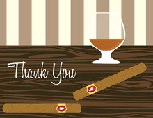 Modern Classic Whisky Thank You Cards