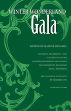 Festive Holiday Gala Green Invitations