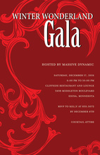 Festive Holiday Gala Red Winter Invitations