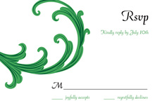 Festive Holiday Gala Green RSVP Cards