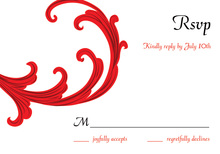 Festive Holiday Gala Red RSVP Cards