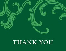 Festive Holiday Gala Green Thank You Cards