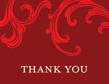 Festive Holiday Gala Red Thank You Cards