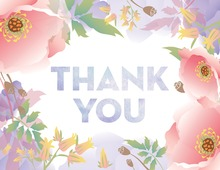Dainty Feminine Floral Thank You Cards