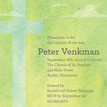Heavenly Classic Green Invitations