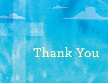 Heavenly Blue Sky Thank You Cards