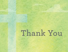 Heavenly Classic Green Thank You Cards