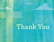 Heavenly Teal Sky Thank You Cards