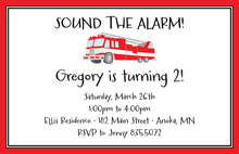 Classy Fire-Engine Truck Invitations
