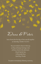 Greenish Gold Leaves Truly Joy Fall Leaves Invitations