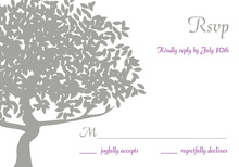 Big Lovely Silhouette Tree RSVP Cards