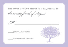 Exquisite Silhouette Tree RSVP Cards