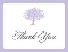 Exquisite Silhouette Tree Thank You Cards