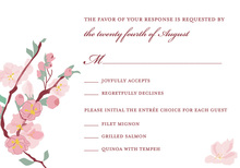Lovely Floral Pink RSVP Cards