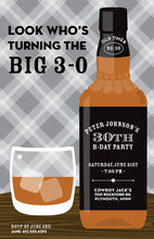 Great Whiskey Bottle Bar Parties Invitation