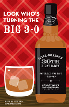 Whiskey Bottle Celebration Red Plaid Invitations