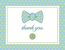 Simple Baby Bow Thank You Cards
