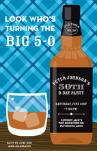 Drink Your Great Whiskey Birthday Invitations
