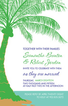 Abstract Green Palm Tree Invitations