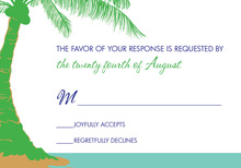 Abstract Palm Tree RSVP Cards