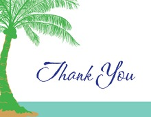 Abstract Palm Tree Thank You Cards