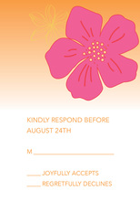 Tropical Paradise Flower Orange RSVP Cards
