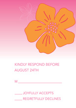 Tropical Paradise Flower Pink RSVP Cards