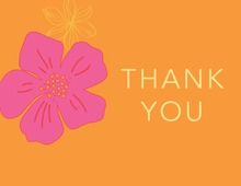 Tropical Paradise Flower Orange Thank You Cards